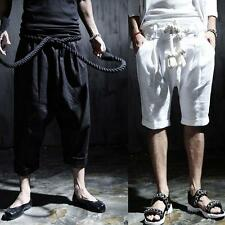 Korean Men's harem Casual Summer Rock Loose Trousers Trendy Punk Gothic Pants