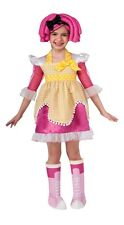 Lalaloopsy Deluxe Crumbs Sugar Cookie Child Costume, Pink/Yellow, Rubies