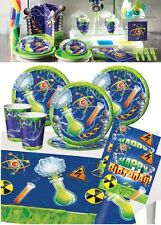 Mad Scientist Birthday Party Tableware Supplies Plates Tablecover Napkins Cups