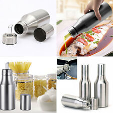 500~1000ml Kitchen Stainless Steel Pouring Pot Olive Oil Bottle Sauce Vinegar