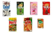10 Pcs GLICO POCKY PRETZ BISCUIT STICK FLAVOUR COATED  SNACK FOOD NEW.