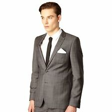 Red Herring Red Line Mens Grey Fine Checked Tailored Suit Jacket From Debenhams