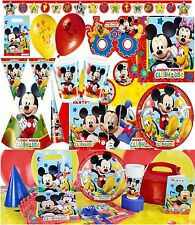 Mickey Mouse Clubhouse Birthday Party Bag Favours Plates Napkins Cups Tablecover