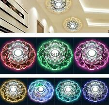 Modern Crystal Round Ceiling Light Fixture Lighting LED Chandelier Home Decor
