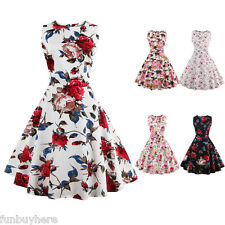 50'S 60s Rockabilly DRESS Vintage Wiggle Swing Pinup Housewife Tea Party Dress