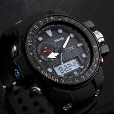 Mens Military Sport Watches Quartz Date Alarm Analog-Digital Watch Waterproof