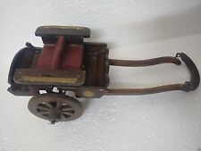 Brass Fitted Indian Handicraft Antique Look Wooden Cart-Home Decor-Royal Theme