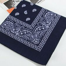 Paisley Bandana Head wrap Cotton Head Wrap Neck Scarf Wristband Handkerchief xg