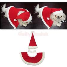 Red Hat & Shawl Christmas Clothes for Dog Pet Santa Claus Costume Dress Up