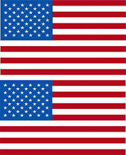 USA American Flag Decal 3M REFLECTIVE Stickers x 2 Exterior Decal Various Sizes