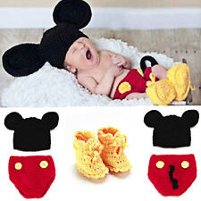 Newborn Infant Baby Girl Boy Crochet Knit Costume Photo Photography Prop Outfits