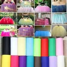 "6""x 25yd Tulle Roll Spool Tutu Wedding Party Wrap Fabric Craft Decorations"