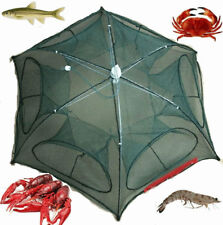 Fishing Bait Net Trap Cast Dip Cage Crab Fish Minnow Crawdad Shrimp Foldable IG