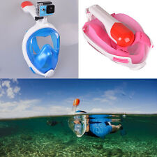 Swim Full Face Diving Mask Underwater Goggles Snorkel Foldable Scuba for GoPro