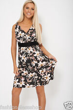 WOMENS LADIES EVENING SUMMER CELEBRITY FLORAL DRESS AVAILABLE IN PLUS SIZE