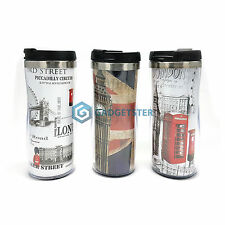 Travel Mug London Coffee Tea Big Ben Union Jack Souvenir England UK Gift Boxed