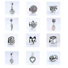 Silver Fashion Charm Beads fit European Sterling DIY Charm Bracelet/Necklace
