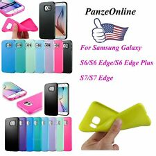 For Samsung Galaxy Cell Phone Shockproof Soft Slim Silicone Gel TPU Case Cover
