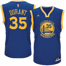 adidas Kevin Durant Golden State Warriors Royal Road Replica Jersey