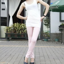 Pink XS Women Sexy Pencil Pants Slim Fit Skinny Stretch Jeans Trousers Hot KE