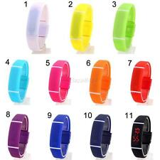 New Mens Women Rubber Date LED Watch Sports Digital Fashion Bracelet Wrist Watch
