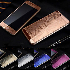 Front+Back Color 3D Diamond Tempered Glass Screen Protector For iphone 7 6s Plus