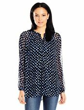 Lucky Brand Womens Collection 7W42542 Checkered Henley Top- Choose SZ/Color.