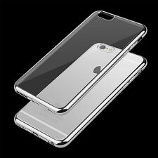 CLEAR Hard Back Silicone TPU Bumper Case Cover For  Apple iPhone 6 6S Plus