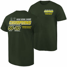 Oregon Ducks Green 2015 Rose Bowl Champions Quick Score T-Shirt