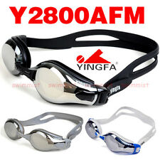 NEW YINGFA Y2800AFM SWIMMING GOGGLES ANTI-FOG UV PROTECTION [ BLACK GREY WHITE ]