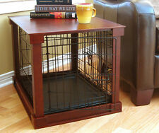 Indoor Dog Pet House Wooden Furniture End Table Crate Cage Bed Kennel Shelter