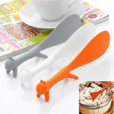 Cute Three Colour Squirrel Kitchen Tool Non Stick Rice Paddle Spoon Ladle Scoop