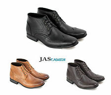 Mens Casual Ankle Boots Fashion Chelsea Designer Shoes Smart Formal Dress Size