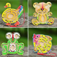 Educational Wooden Toys Puzzle Games Pen Labyrinth for Kids Children Baby Play