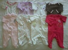 Baby Girls Newborn 0/3 3 months sleepers pajamas clothes lot!