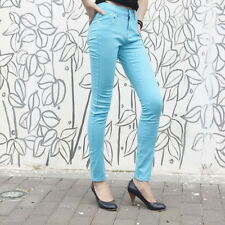 Blue S Women Sexy Pencil Pants Slim Fit Skinny Stretch Jeans Trousers Ho ZD