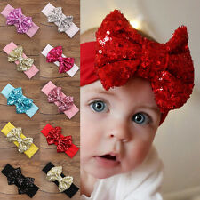 Cute Baby Toddler Girl Hair Band Sequined Bow Headband Turban Knot Hair Headwear