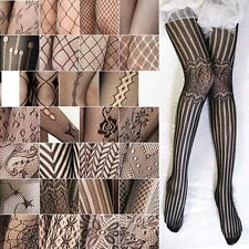 Sexy Women Lady Tattoo Stretch Tights Lace Silk Pantyhose Stockings Velvet Mesh