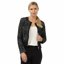 The Collection Womens Black Space Dye Jacket From Debenhams