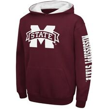 """Mississippi State Bulldogs Youth NCAA """"Zone"""" Pullover Hooded Sweatshirt"""