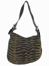 Fendi Animal Print Canvas Medium Shoulder Bag