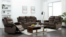The Room Style Comfortable 2Pc Short Plush Reclining Sofa and Loveseat Set