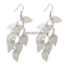 Lady Vintage Eardrops Hollow Leaves Statement Long Beach Dangle Hook Earrings