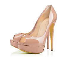 Sexy Women Platform Pumps Party Evening High Heel Shoes Peep Toe Stiletto Hot