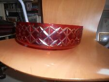 USSR flash red glass bowl