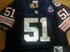 Brand New! Chicago Bears #51 Dick Butkus Throwback HOF Patch sewn Jersey Mens LG