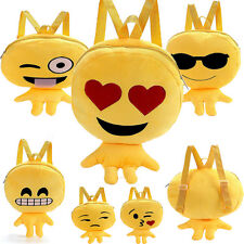 Hot Sale Cute Kid Lovely Expression Plush Toys Bags Yellow Children's Backpacks