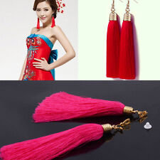 Fashion Women Bohemian Long Tassel Earring BOHO Fringe Dangle Ear Hook Earrings