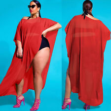 Women's Summer Bathing Suit Bikini Swimwear Cover Up Large Beach Dress Bat Shirt