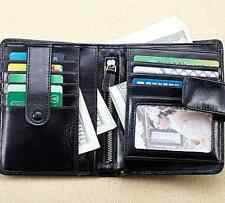 New Women Genuine Leather Bifold Wallet Short Card Holder Money Clip Coin Purse